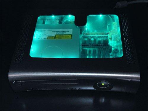 XCM black light chameleon case for xbox 360