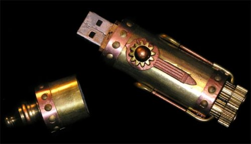$3,000 Steampunk USB flash drive