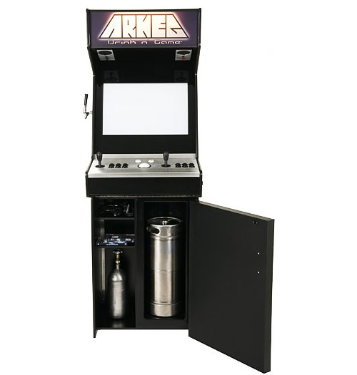 Arkeg: An arcade game with a keg built in