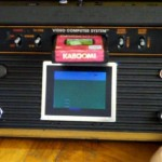 Atari 2600 console mod with built in screen