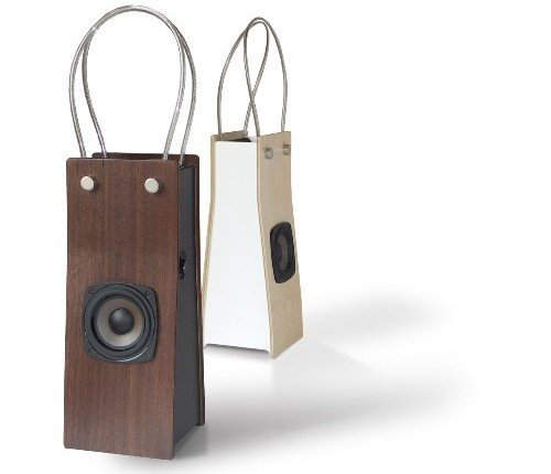 Wooden iPod speaker bags