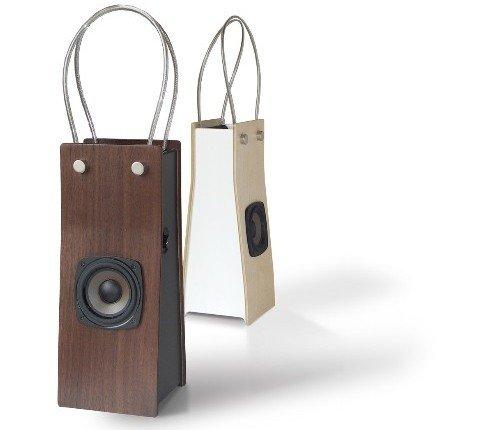 Wooden iPod speaker bags