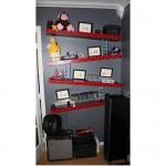 Donkey Kong shelves put the game on the wall