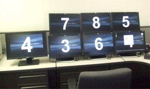 HP USB Graphics Adapter Identifying the monitors
