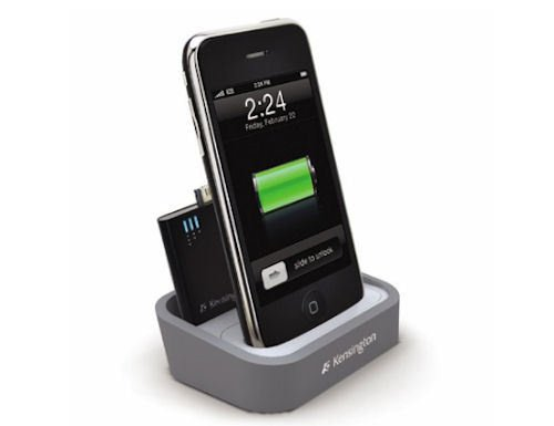 Kensington dock charges mini battery and your iPhone/iPod