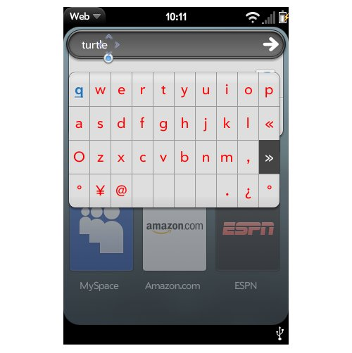 Palm Pre gets virtual keyboard
