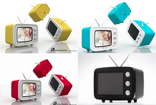 Retro TV digital photo frame