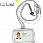IQUA smart badge Bluetooth headset