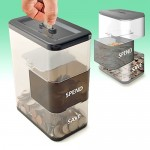 Spend and save coin bank