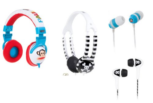 Paul Frank Skullcandy headphones and earphones