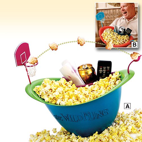 Play Basketball with your popcorn bowl