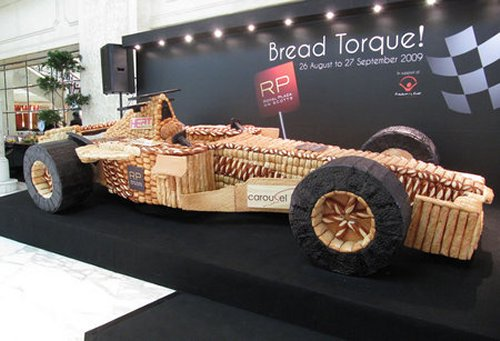 Asia's largest race car made from bread