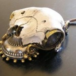 Skull mouse is the creepiest steampunk mouse ever