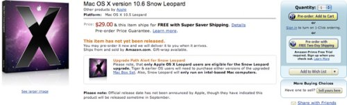 Snow Leopard now available for pre-order