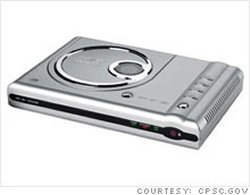 Wal-Mart DVD players may burst into flames