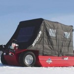 Wilcraft amphibious ice-fishing vehicle