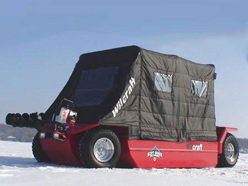 Wilcraft amphibious ice-fishing vehicle
