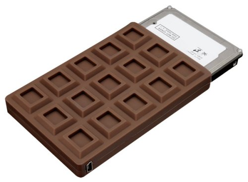 Chocolate bar SATA hard drive case