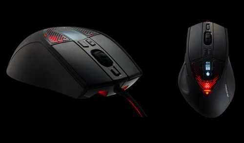 Sentinel Advance gaming mouse with OLED display