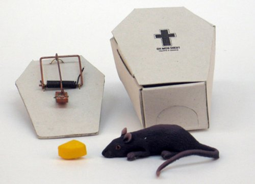 Coffin mousetrap makes it easy to dispose of your kill