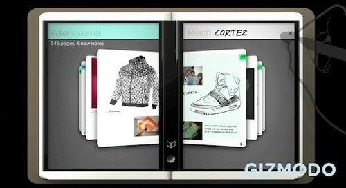 New Microsoft Courier video shows tablet interface details