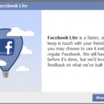 Facebook Lite launched along with status tagging