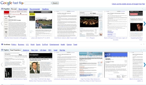 Google Fast Flip News Reader