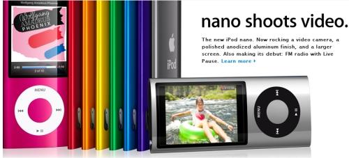 iPod Nano with camera, FM tuner, mic, fitness