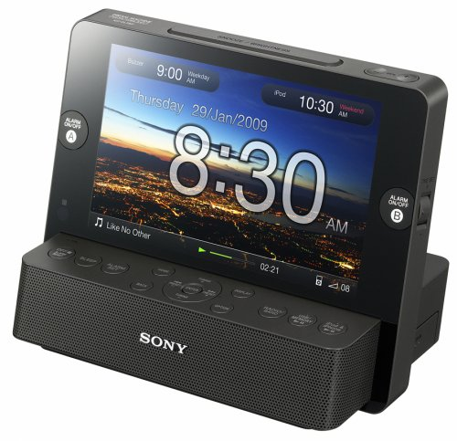 sony s icf cl75ip alarm clock digital frame and dock for. Black Bedroom Furniture Sets. Home Design Ideas