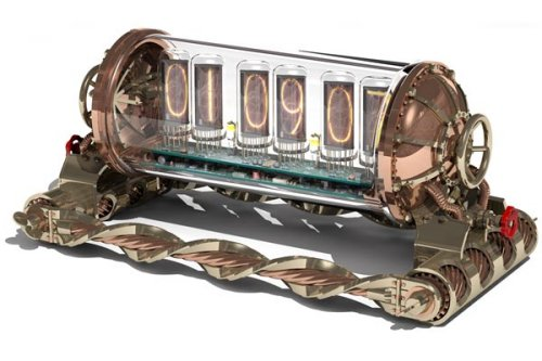 Steampunk Nixie Clock