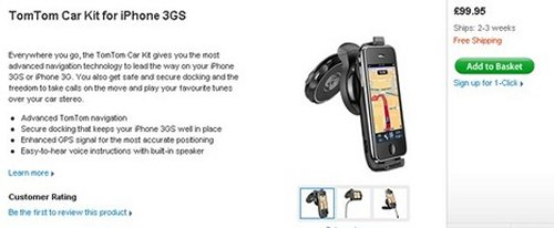 TomTom car kit for iPhone 3GS