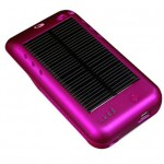 Solar powered Surge iPod Touch charger