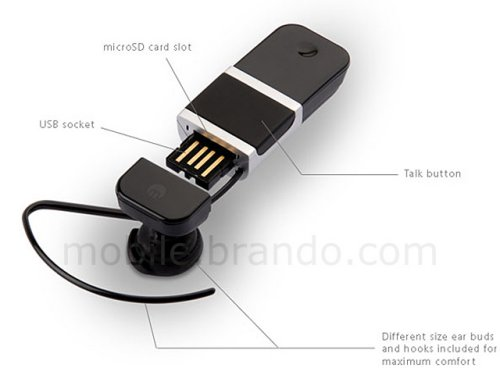 Bluetooth headset and microSD reader