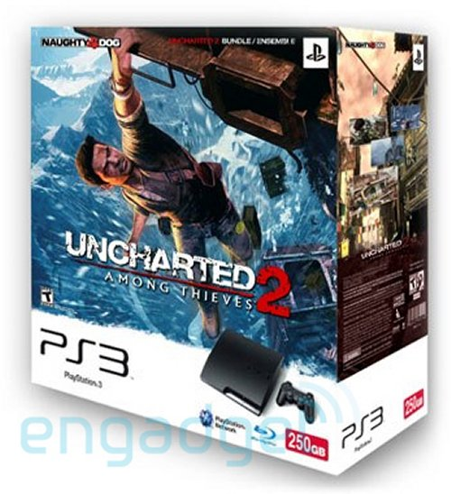 250GB PlayStation 3 slim Uncharted 2 bundle