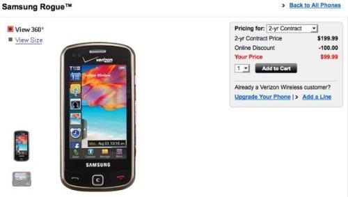 Verizon releases the Samsung Rogue U960 and Intensity U450