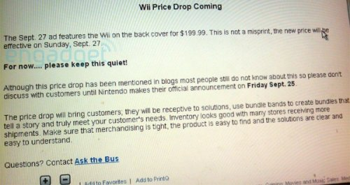 Wii price drop confirmed: $199 this weekend