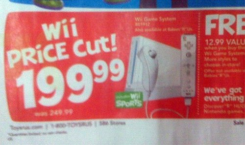 Wii getting $50 price drop?