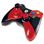 Red and Black XBox 360 controller for your XBox 360 Elite
