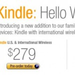 International Kindle ships Oct 19 for $279, US edition drops to $259