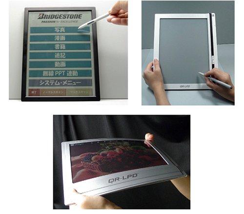 Bridgestone announces flexible touchscreen color e-reader