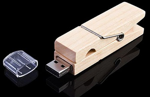 Clothes Pin USB drive