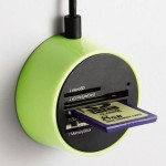 Magnetic Elecom Card Reader sticks to metal surfaces