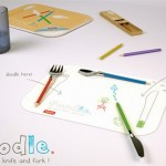 Foodle is a fork, knife and spoon that lets you doodle