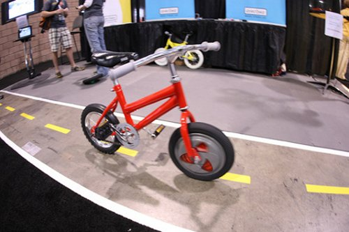 Gyrobike trades training wheels for a gyrowheel