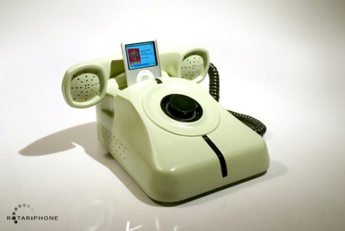 Rotary phone iPod dock