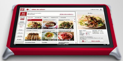 Qooq recipe and cooking tablet PC
