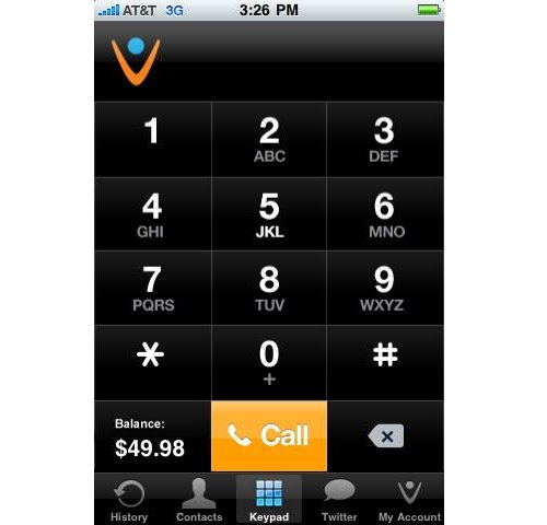 Vonage mobile app for iPhone and Blackberry