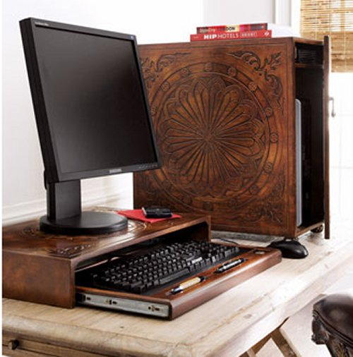$200 CPU stand from Neiman Marcus is just a fancy wood box