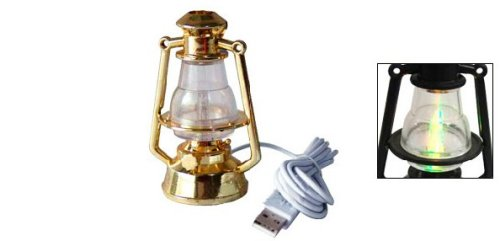 USB Hurricane Lamp with color changing flame