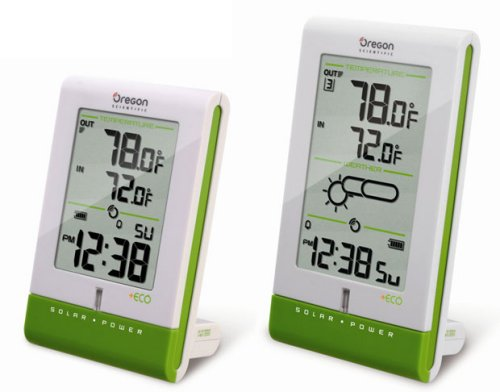 Solar Powered Oregon Scientific weather stations